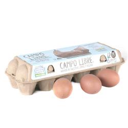 huevos de campo libre 12 u