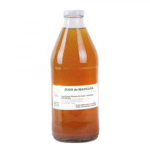 jugo de manzana orgánico 1 L